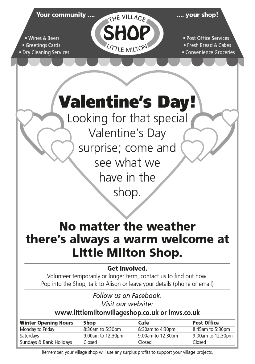 News and events - Christmas at Little Milton Village Shop
