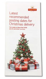 Compihencive list of Christmas Last Dates for Posting in a Post Office.