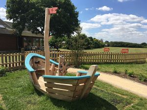 The play boat at little milton children's play ares.